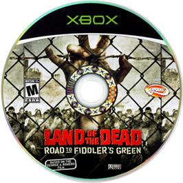 Artwork on the CD for Land of the Dead: Road to Fiddler's Green on the Microsoft Xbox.