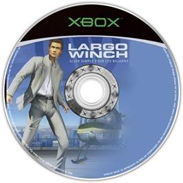 Artwork on the CD for Largo Winch: Empire Under Threat on the Microsoft Xbox.
