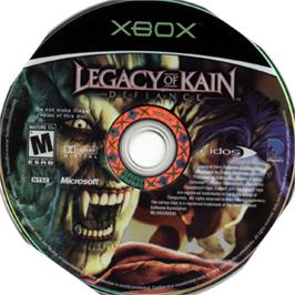Artwork on the CD for Legacy of Kain: Defiance on the Microsoft Xbox.