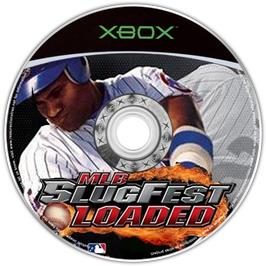 Artwork on the CD for MLB Slugfest Loaded on the Microsoft Xbox.