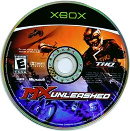 Artwork on the CD for MX Unleashed on the Microsoft Xbox.
