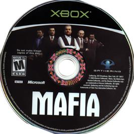 Artwork on the CD for Mafia on the Microsoft Xbox.