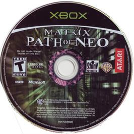 Artwork on the CD for Matrix: Path of Neo on the Microsoft Xbox.