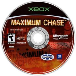 Artwork on the CD for Maximum Chase on the Microsoft Xbox.