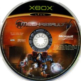 Artwork on the CD for MechAssault on the Microsoft Xbox.