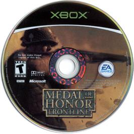 Artwork on the CD for Medal of Honor: Frontline on the Microsoft Xbox.