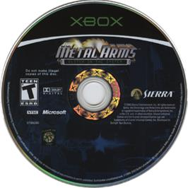 Artwork on the CD for Metal Arms: Glitch in the System on the Microsoft Xbox.