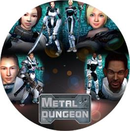 Artwork on the CD for Metal Dungeon on the Microsoft Xbox.