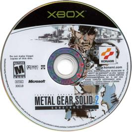 Artwork on the CD for Metal Gear Solid 2: Substance on the Microsoft Xbox.