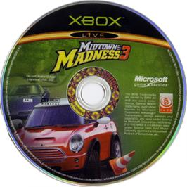 Artwork on the CD for Midtown Madness 3 on the Microsoft Xbox.