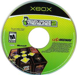 Artwork on the CD for Midway Arcade Treasures 2 on the Microsoft Xbox.