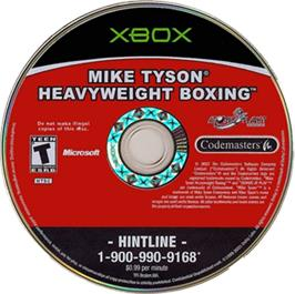 Artwork on the CD for Mike Tyson Heavyweight Boxing on the Microsoft Xbox.