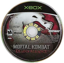 Artwork on the CD for Mortal Kombat: Deadly Alliance on the Microsoft Xbox.