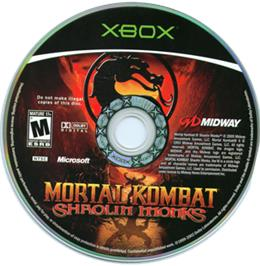 Artwork on the CD for Mortal Kombat: Shaolin Monks on the Microsoft Xbox.