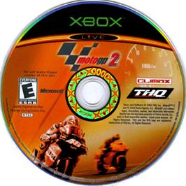 Artwork on the CD for MotoGP 2 on the Microsoft Xbox.