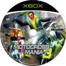 Artwork on the CD for Motocross Mania 3 on the Microsoft Xbox.