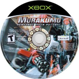 Artwork on the CD for Murakumo: Renegade Mech Pursuit on the Microsoft Xbox.