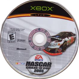 Artwork on the CD for NASCAR 2005: Chase for the Cup on the Microsoft Xbox.