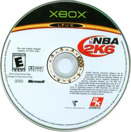 Artwork on the CD for NBA 2K6 on the Microsoft Xbox.