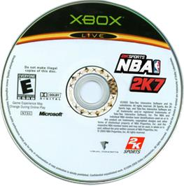 Artwork on the CD for NBA 2K7 on the Microsoft Xbox.