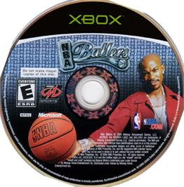 Artwork on the CD for NBA Ballers: Phenom on the Microsoft Xbox.