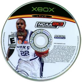 Artwork on the CD for NCAA College Football 2K3 on the Microsoft Xbox.
