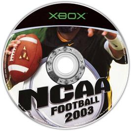 Artwork on the CD for NCAA Football 2003 on the Microsoft Xbox.