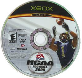 Artwork on the CD for NCAA Football 2005 on the Microsoft Xbox.