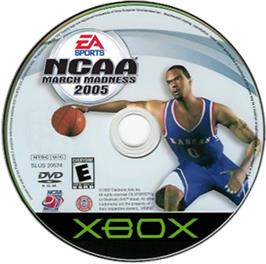 Artwork on the CD for NCAA March Madness 2005 on the Microsoft Xbox.