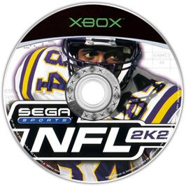 Artwork on the CD for NFL 2K2 on the Microsoft Xbox.