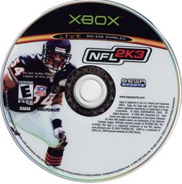Artwork on the CD for NFL 2K3 on the Microsoft Xbox.
