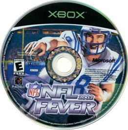 Artwork on the CD for NFL Fever 2002 on the Microsoft Xbox.