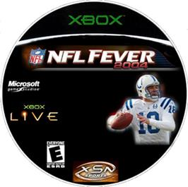 Artwork on the CD for NFL Fever 2004 on the Microsoft Xbox.
