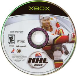 Artwork on the CD for NHL 2003 on the Microsoft Xbox.