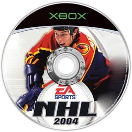 Artwork on the CD for NHL 2004 on the Microsoft Xbox.
