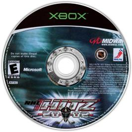 Artwork on the CD for NHL Hitz 20-02 on the Microsoft Xbox.