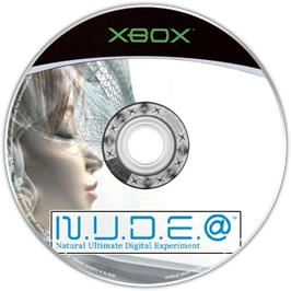 Artwork on the CD for NUDE on the Microsoft Xbox.