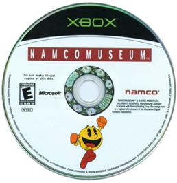 Artwork on the CD for Namco Museum on the Microsoft Xbox.