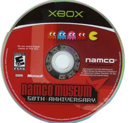 Artwork on the CD for Namco Museum 50th Anniversary on the Microsoft Xbox.