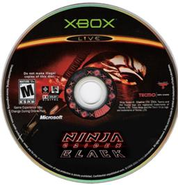 Artwork on the CD for Ninja Gaiden Black on the Microsoft Xbox.