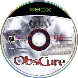 Artwork on the CD for ObsCure on the Microsoft Xbox.