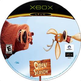 Artwork on the CD for Open Season on the Microsoft Xbox.