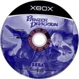 Artwork on the CD for Panzer Dragoon Orta on the Microsoft Xbox.