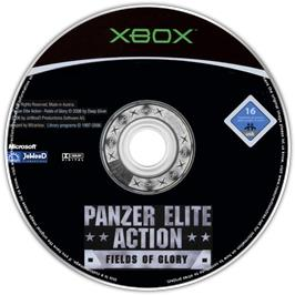 Artwork on the CD for Panzer Elite Action: Fields of Glory on the Microsoft Xbox.