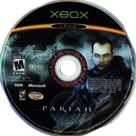Artwork on the CD for Pariah on the Microsoft Xbox.