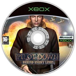 Artwork on the CD for Pilot Down: Behind Enemy Lines on the Microsoft Xbox.