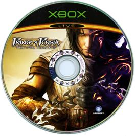 Artwork on the CD for Prince of Persia: The Two Thrones on the Microsoft Xbox.