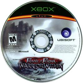 Artwork on the CD for Prince of Persia: Warrior Within on the Microsoft Xbox.