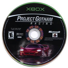 Artwork on the CD for Project Gotham Racing on the Microsoft Xbox.