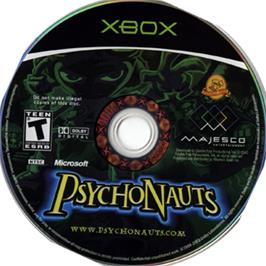 Artwork on the CD for Psychonauts on the Microsoft Xbox.